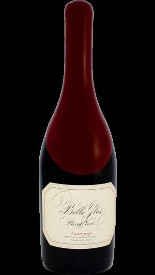 Bottle of Belle Glos Dairyman Pinot Noir 2015 wine 750 ml