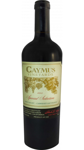 Bottle of Caymus Special Selection Cabernet Sauvignon 2012 wine 750 ml