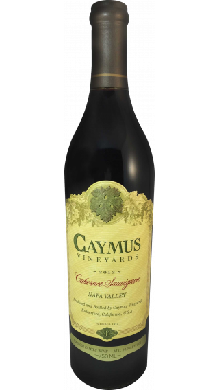 Bottle of Caymus Cabernet Sauvignon 2013 wine 750 ml
