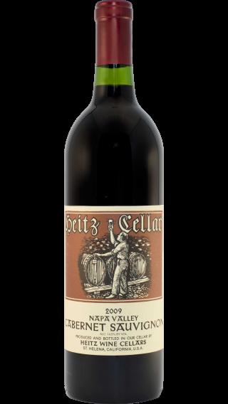 Bottle of Heitz Napa Valley Cabernet Sauvignon 2009 wine 750 ml