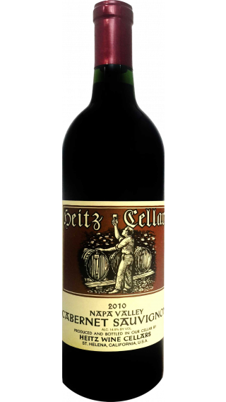 Bottle of Heitz Napa Valley Cabernet Sauvignon 2012 wine 750 ml
