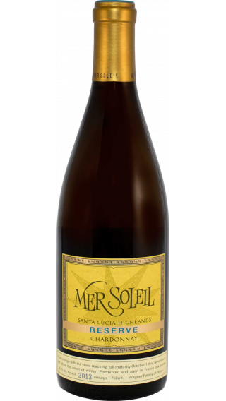 Bottle of Mer Soleil Reserve Chardonnay 2013 wine 750 ml