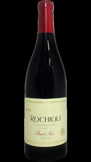 Bottle of Rochioli Estate Pinot Noir 2012 wine 750 ml