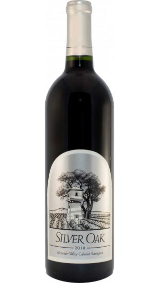 Bottle of Silver Oak Alexander Valley Cabernet Sauvignon 2010 wine 750 ml