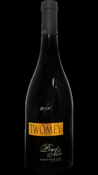 Bottle of Twomey Pinot Noir Russian River 2014 wine 750 ml