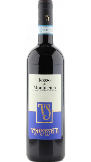 Bottle of Vasco Sassetti Rosso di Montalcino 2019 wine 750 ml