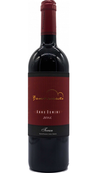 Bottle of Benvenuti Teran 2015 wine 750 ml