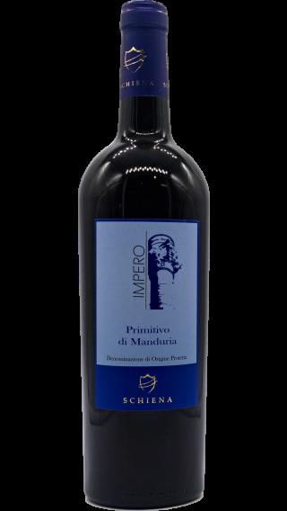 Bottle of Schiena Impero Primitivo Di Manduria 2015 wine 750 ml