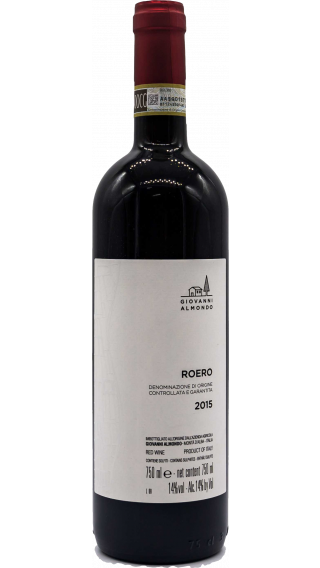 Bottle of Giovanni Almondo Roero 2015 wine 750 ml