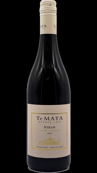 Bottle of Te Mata Estate Syrah 2015 wine 750 ml