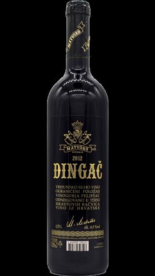 Bottle of Matusko Dingac 2013 wine 750 ml