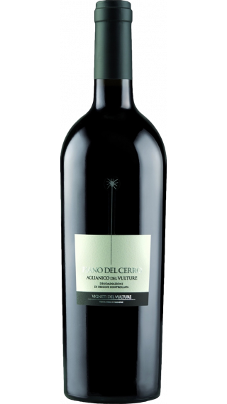 Bottle of Vigneti del Vulture Piano del Cerro Aglianico 2018 wine 750 ml