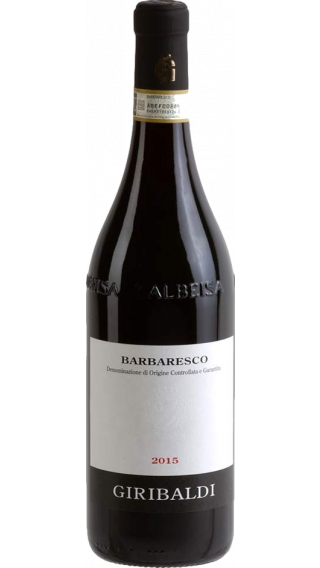 Bottle of Mario Giribaldi Barbaresco 2015 wine 750 ml
