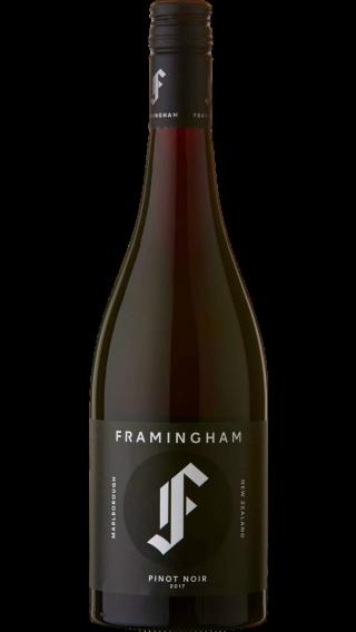 Bottle of Framingham Pinot Noir 2018 wine 750 ml