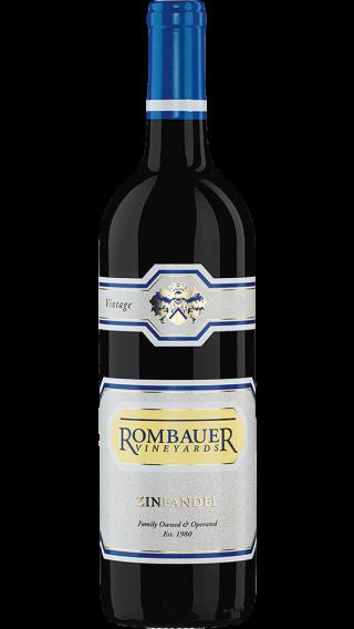 Bottle of Rombauer Vineyards Zinfandel 2015 wine 750 ml