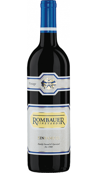 Bottle of Rombauer Vineyards Zinfandel 2017 wine 750 ml