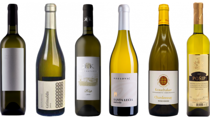 Bottle of Croatian White Wine Tasting Case wine 0 ml