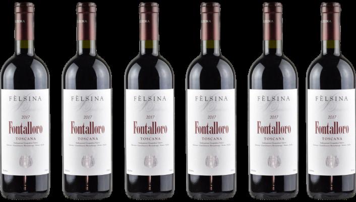 Bottle of Felsina Fontalloro 2017 6 Bottle Case wine 0 ml