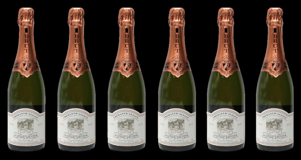 Bottle of Allimant Laugner Cremant d'Alsace Rose Case wine 0 ml