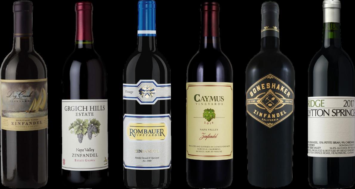 Bottle of California Zinfandel Premium Tasting Case wine 0 ml