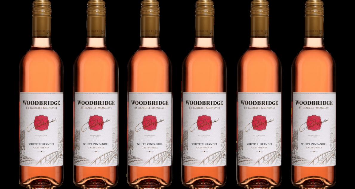 Bottle of Robert Mondavi White Zinfandel Case wine 0 ml